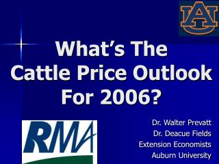 What's The  Cattle Price Outlook  For 2006?