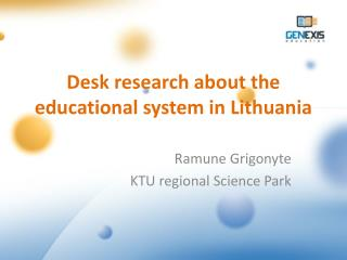 Desk research about the educational system in Lithuania