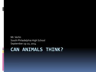 Can animals think?