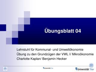 Übungsblatt 04