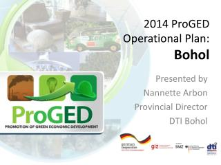 2014  ProGED  Operational Plan: Bohol