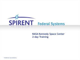 NASA Kennedy Space Center 2-day Training