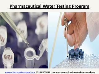 Pharmaceutical Water Testing Program