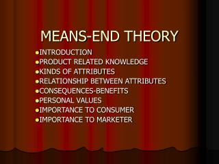 MEANS-END THEORY