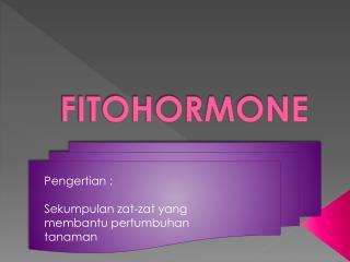 FITOHORMONE