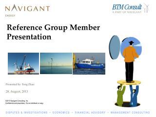 Reference Group Member Presentation