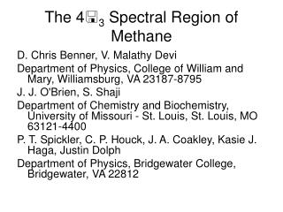 The 4  3  Spectral Region of Methane