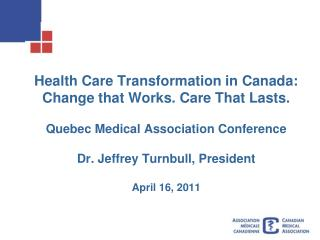 Transformation needed to sustain Canada's health care system