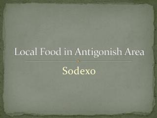 Local Food in Antigonish Area