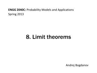 8. Limit theorems