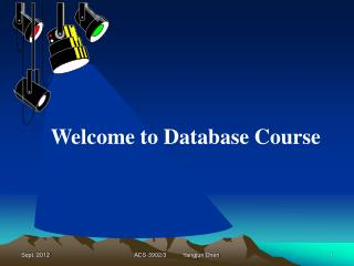 Welcome to Database Course