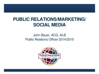 PUBLIC RELATIONS/MARKETING / SOCIAL  MEDIA
