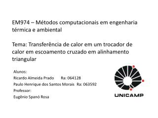 Alunos: Ricardo Almeida PradoRa: 064128 Paulo Henrique dos Santos MoraisRa: 063592 Professor: