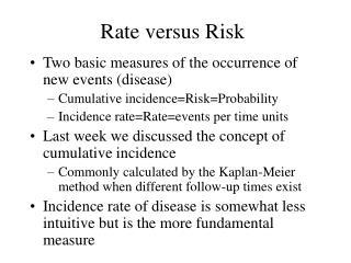 Rate versus Risk