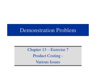 Demonstration Problem