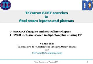 TeVatron SUSY searches in final states leptons and photons