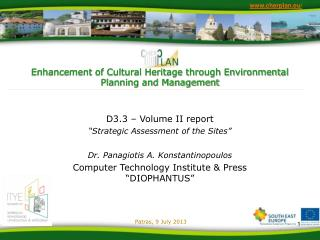 Enhancement of Cultural Heritage through Environmental Planning and Management