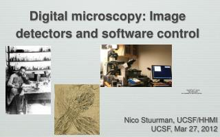 Digital microscopy: Image detectors and software control