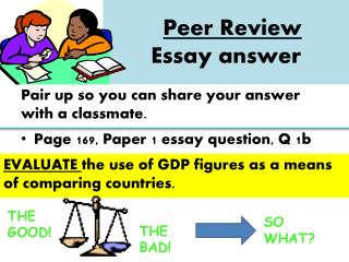 Peer Review  Essay answer