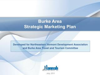 Burke Area Strategic Marketing Plan