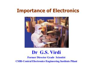 PPT - Importance of Electronics PowerPoint Presentation - ID:7077413