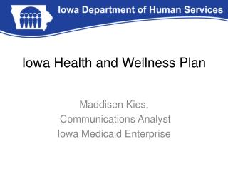 Iowa Health and Wellness Plan