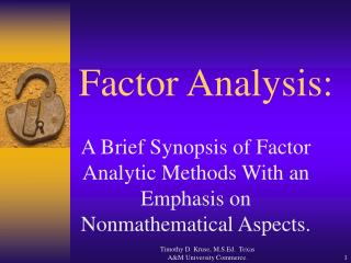 Factor Analysis: