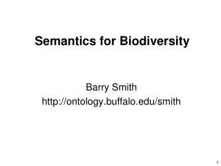 Semantics for Biodiversity