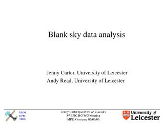 Blank sky data analysis