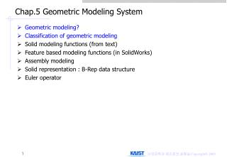 Chap.5 Geometric Modeling System