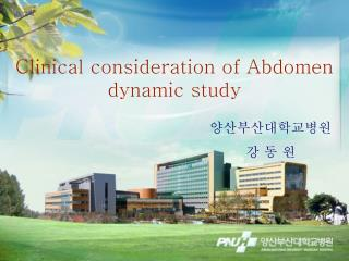 Clinical consideration of  Abdomen dynamic study