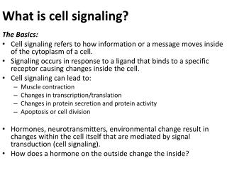 What is cell signaling?