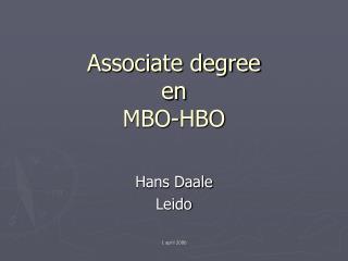 Associate degree en MBO-HBO