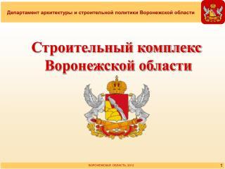 Строительный комплекс Воронежской области