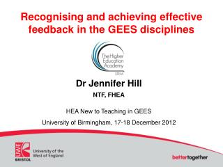 Recognising and achieving effective feedback in the GEES disciplines