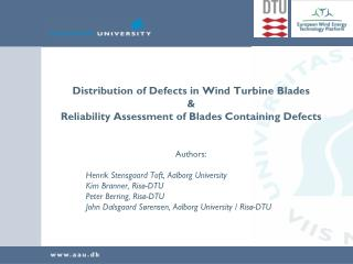 Distribution of Defects in Wind Turbine Blades &
