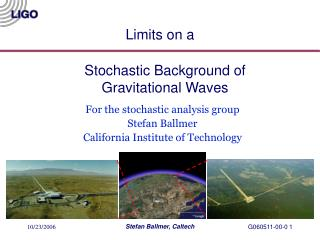 Stochastic Background of Gravitational Waves