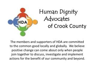 Human Dignity   Advocates       of  Crook County