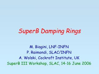 SuperB Damping Rings