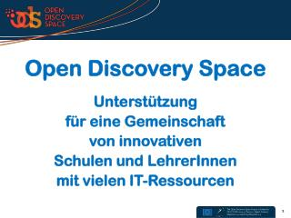 Open Discovery Space