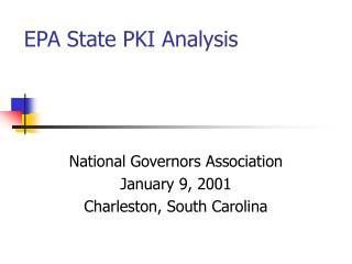 EPA State PKI Analysis