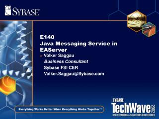 E140  Java Messaging Service in EAServer