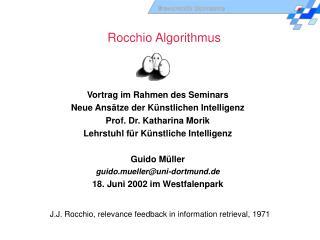 Rocchio Algorithmus