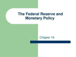 an introduction to the federal reserve and monetary policy Introduction the federal reserve's (the fed's) responsibilities as the nation's central bank fall into four main categories: monetary policy, provision of emergency liquidity through the lender of last resort function, supervision of certain types of banks and other financial firms for safety and soundness, and provision of payment system.