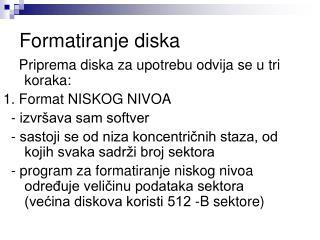 Formatiranje diska