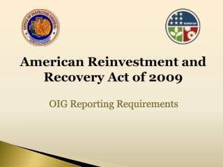 American Reinvestment and Recovery Act of 2009