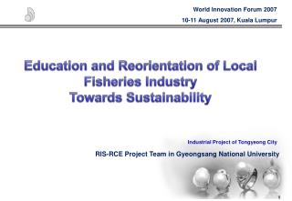 RIS-RCE Project Team in Gyeongsang National University