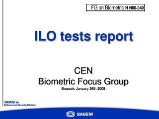 ILO tests report
