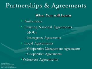 Partnerships & Agreements
