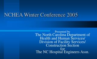NCHEA Winter Conference 2005